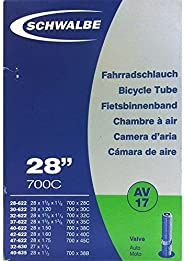 SCHWALBE AV17 Bicycle Inner Tube with Schrader Valve ~~28 inch 37622 MM (28 x 1 3/8 x 1 5/8 inches) (28 x 1.4