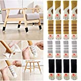 16PCS Chair Table Legs Floor Protectors Socks Cotton Knitted Furniture Socks Covers Set for Square Round Rectangle Bun Furniture Feet (Multicolor)