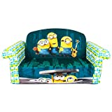 Marshmallow Furniture, Children's 2 in 1 Flip Open Foam Sofa, Despicable Me Minions, by Spin Master