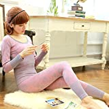 GBHNJ Thermal Underwear Sets Women'S Thin Slim Autumn And Winter Gray F(Suitable Weight 80-130 Catty)