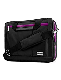 Vangoddy El Prado Hybrid 2 in 1 Backpack/Messenger and Notebook Carrying Case Shoulder Bag for Laptop, Purple, Large (15-Inch-17-Inch)