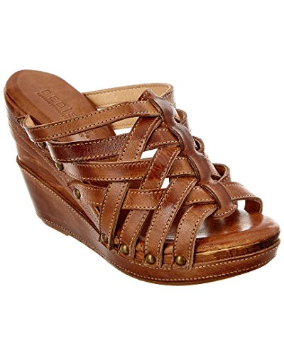 Josie Platform Shoes - Bed Stu Josie Leather Wedge Sandal, 9.5, Brown