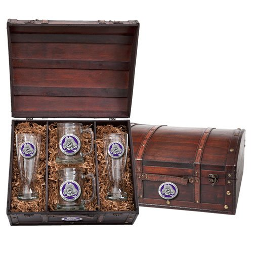 East Carolina Pirates Colored Logo Beer Chest Set by Heritage Pewter
