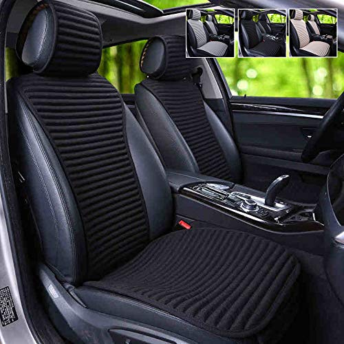 Car Seat Covers,Suninbox Buckwheat Hull Bottom Seat Covers For Cars,Universal Car Seat Covers Pads Mat,Air Bag Compatible,Breathable Comfortable Ventilated [1 Pack Black Front Seat]