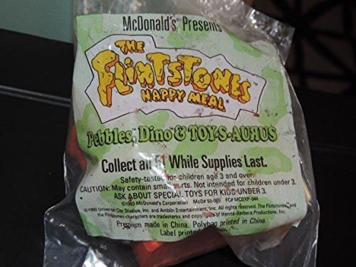 FLINTSTONES Happy Meal PEBBLES DINO /& TOYS S AURAUS by McDonalds Mcdonalds