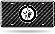 Rico Industries, Inc. Winnipeg Jets Metal Tag License Plate Carbon Fiber Design Premium Aluminum Novelty Hocke