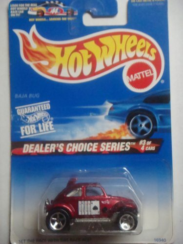 Hot Wheels 1996 Baja Bug Vw Beetle Dealers Choice Series Race Ace Rare Colletcor #3/4 Scale 1/64 (Bug Volkswagen Baja)