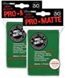 Ultra Pro PRO-MATTE (100 Count) Green Deck Protector Sleeves - Magic the Gathering (2 Packs of 50 each)