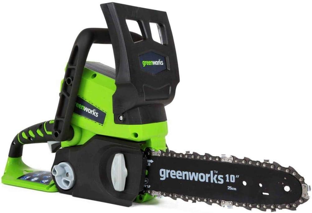 Greenworks 2000007UA/20097T Motosierra Inalámbrica, 24 V, Verde