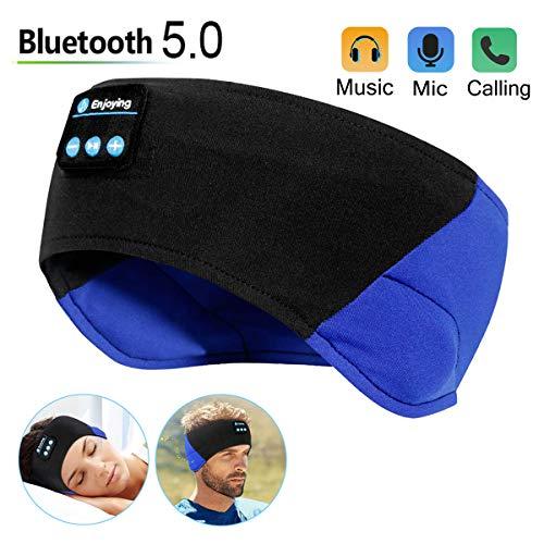 Bluetooth Sleep Headphones - The Young's Bluetooth Headband Wireless Sleeping Headphones for Workout Jogging Yoga - Black and Blue