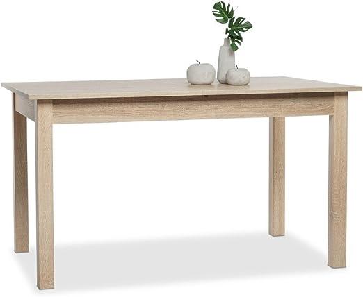 expendio Esstisch Cottbus weiß Größe nach Wahl Esszimmertisch Speisetisch Auszugstisch Küchentisch Tisch Esszimmer Wohnzimmer Küche, Größe:120(160)
