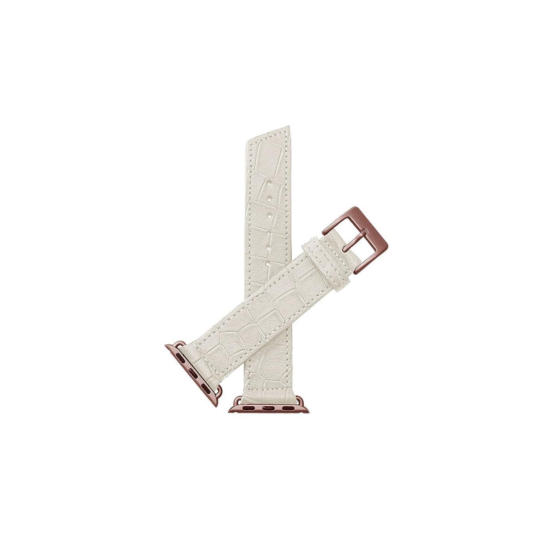 Nie Analog. Lecce Croc Unisex Weiß Leder Schnalle Pin