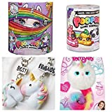 Poopsie Slime Surprise Unicorn, 1 Small Slime, 1 Pair Unicorn Frienship Necklace and 1 Pomsies Luna Unicorn