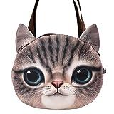 Tote Bags - All4you Women Handbags Top-handle Bag Tote Leather Ladies Bag in Cat Shape(Brown)