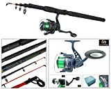 Hunter Pro Telescopic Sea Fishing Kit Travel Rod & Reel 10ft 10' Beachcaster Pier Surf Rod