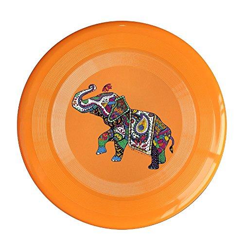 AOLM India Treasure Elephant Outdoor Game Frisbee Sport Disc Orange