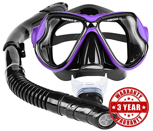 Snorkel set snorkel mask with semi dry technology pvc for Dive tube