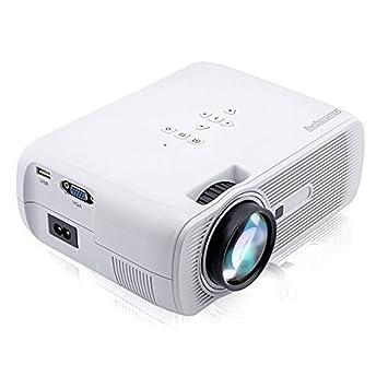 Cassiel Y Proyector, Mini proyector, proyector de Video, Compatible con Fire TV Stick Game Console Chromecast PC Smartphone Tablet USB TF, Cine en casa: ...
