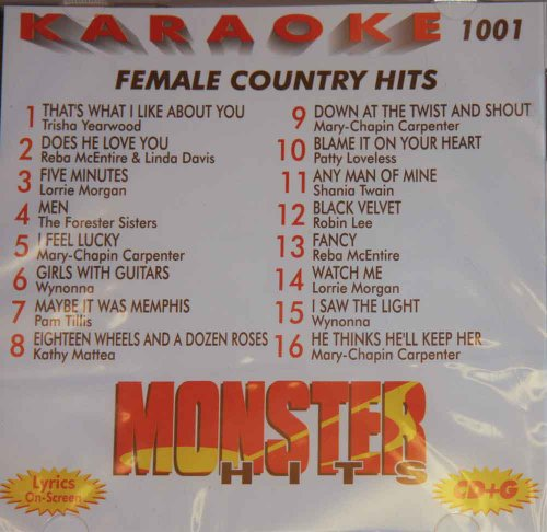Monster Hits Karaoke Vol 1001 - Female Country ()