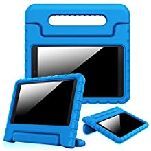 "Fintie Shock Proof Case for Fire HD 10 - Kiddie Series Light Weight Shock Proof Convertible Handle Stand Cover Kids Friendly for Amazon Fire HD 10 Tablet (10.1"" HD Display 5th Gen 2015 release), Blue"