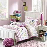 Mizone Kids Spring Bloom 4 Piece Comforter Set, Multicolor, Full/Queen