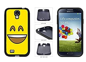 Bright Yellow Smiley Grin with Teeth Face TPU RUBBER SILICONE Phone Case Back Cover Samsung Galaxy S4 I9500