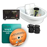 IonizeMe Elite Ionic Detox Foot Bath Spa Machine with Accessories - 17.0V 2.2 Amps - 5 Yr Warranty