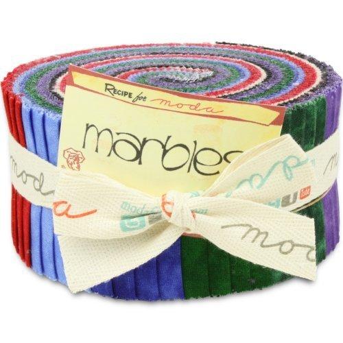 Moda Basics Marbles Bright Jelly Roll (9880JR) - 2.5