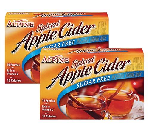 (Alpine Mix Cider sugar  free drink mix 10 pouches (2 pack))
