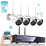 Wireless Security Camera System,SZSINOCAM 4 Channel WiFi Camera Full HD 1080P NVR Wireless CCTV Camera Systems 4 x 960P IP Cameras WiFi Transmission,Enhanced Wireless Antenna,All Weather Adaptation Review