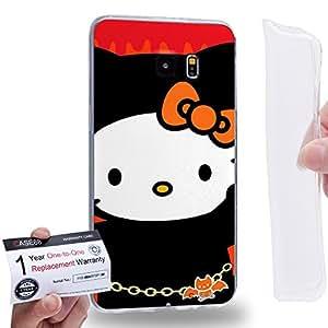 Case88 [Samsung Galaxy S6 Edge Plus] Gel TPU Carcasa/Funda & Tarjeta de garantía - Hello Kitty Collection 0626