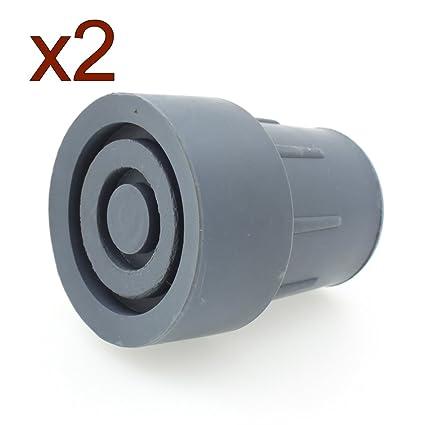 Virolas de goma de alta calidad (Pack 2) - elija su color de tamaño! 25mm (gris)