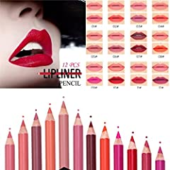 Product parameters:              Single product: Eyeliner, lipliner       Color: 12 color / box       Single branch weight: 5g       12 / set weight: 74.4 g       Single branch size: 16.5*0.8*0.8 (CM)       Shelf life: 3 years...