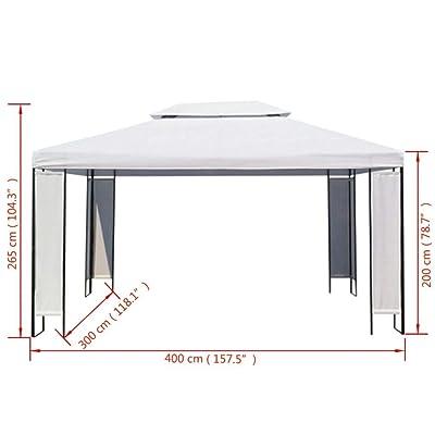 "Kingsea Gazebo White 118.1""x157.5"": Home & Kitchen"