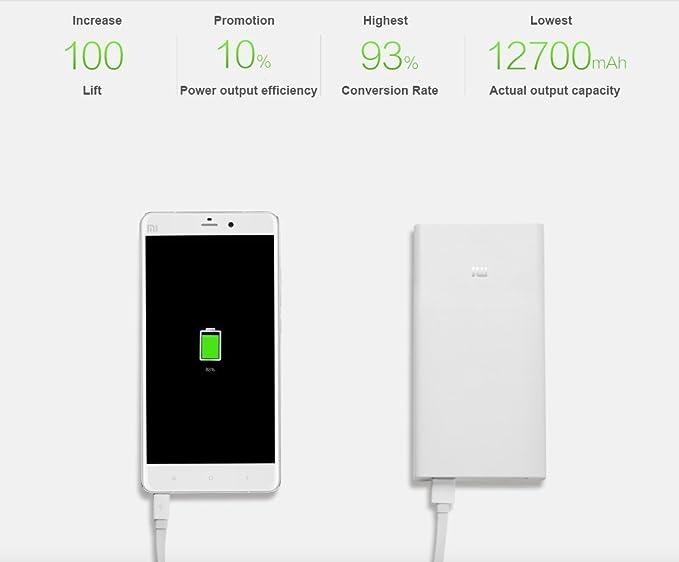 Amazon.com: Xiaomi Power Bank 20000mAh Dual USB Puerto ...