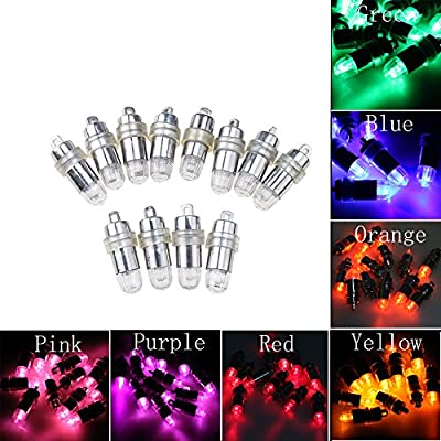 IMAGE 12PCS Waterproof Non-blinking Battery-operated LED Party Wedding Outdoor Decoration Light Bulbs for Paper Lantern Ballon Floral Cheer Sticks Blue/Orange/Green/Pink/Purple/Red/Yellow