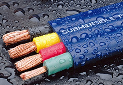 250-Foot Double-Insulated Submersible Pump Cable for Water Wells 12-Gauge 3-Wire + Ground