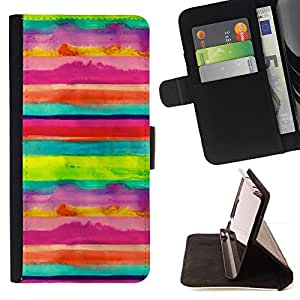 Jordan Colourful Shop - stripes kids art joyful happy For Apple Iphone 6 PLUS 5.5 - Leather Case Absorci???¡¯???€????€????????&