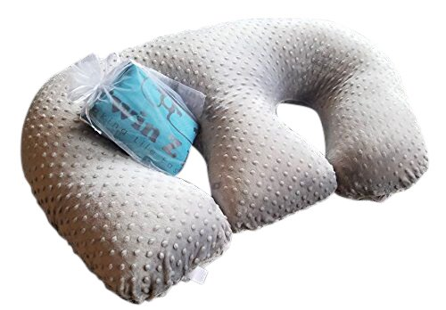 Twins Breast Feeding Pillows - Twin Z Pillow + 1 Grey