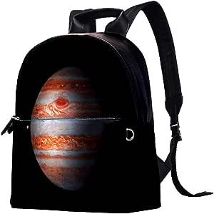 MAPOLO Jupiter - Mochila de piel estampada impermeable y duradera para la escuela, mochila para portátil