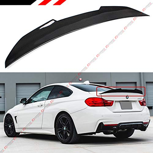 Cuztom Tuning Fits for 2014-2018 BMW F32 4 Series 2 Door Coupe P Sytle High Kick Carbon Fiber Trunk Spoiler - 4 Coupe Bmw Door