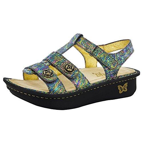 Alegria Womens Kleo Gladiator Sandal Abalone Rose Size 37 EU (7-7.5 M US Women)