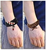 Yadoca 9 Pcs Bead Bracelet For Men Women 108 Mala