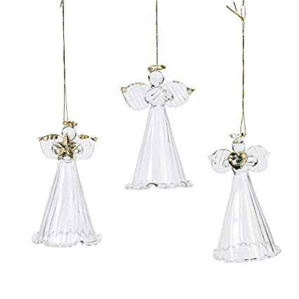 Amazon.com: Fun Express One Dozen Spun Glass Angel Ornaments ...