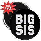 CafePress - Big Sis Full Bleed - 2.25'' Magnet (100 pack)