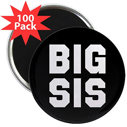 CafePress - Big Sis Full Bleed - 2.25'' Magnet (100 pack) by CafePress