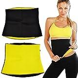 Elebae - Hot Thermo Neoprene Fibre Sweat and Slim Belt Shaper Slimming Waist Cincher Girdle Weight Loss for Women and Men