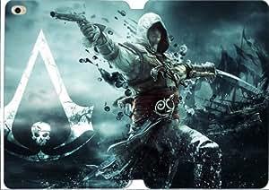 ipad mini 4 case , assassins creed iv black flag assassin pirate edward kenuey gun sword flag ship- Premium PU Leather Smart Cover Case for ipad mini 4-SSSF2784902