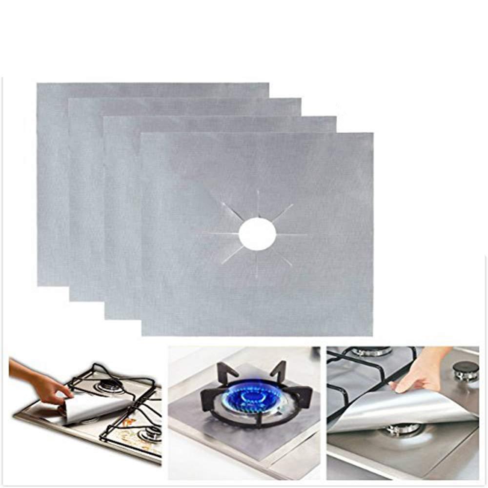 Protectores de Estufa Quemadores Gas Protectores Estufa Protectores - Reutilizable, Antiadherente, Apto para lavavajillas - Almohadilla de Protección de Gas ...