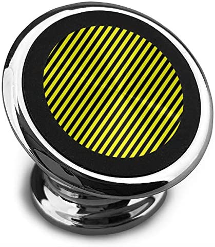 黒と黄色のパターン 携帯電話ホルダー おしゃれ 車載ホルダー 人気 磁気ホルダー 大きな吸引力 サポートフレーム 落下防止 360度回転